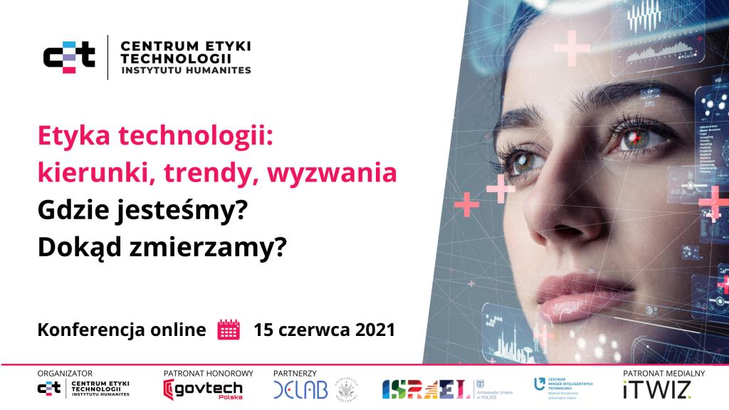 Baner konferencji CET Etyka technologii kierunki trendy wyzwania